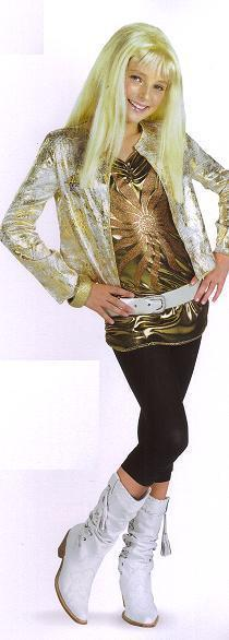 HANNAH MONTANA SECRET CELEBRITY GOLD JACKET SET SZ 7/8