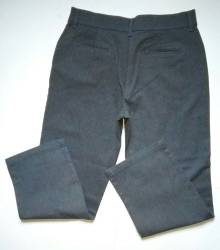 Lee Relaxed Fit at the Waist Womens Size 14 Short Grey Denim Jeans Pants (34x32)