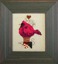 Lovebird CH1001 button pack + cross stitch chart JABC - $12.60