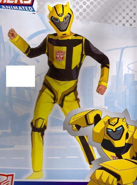 TRANSFORMERS ANIMATED BUMBLEBEE COSTUME Med SIZE 7-8