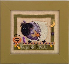 Trick or Treat With Ewe CH1002 button pack + cross stitch chart JABC - $16.20