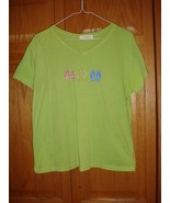 Fresh Produce Top M Apple Green With Flip Flops On Chest - $15.99