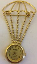 Vintage Homer Hot Air Balloon Watch Pendant Gold Plated Works  - $24.13