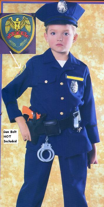 POLICEMAN Costume size 4/6 Childs