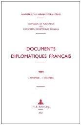 Documents Diplomatiques Francais by Ministère