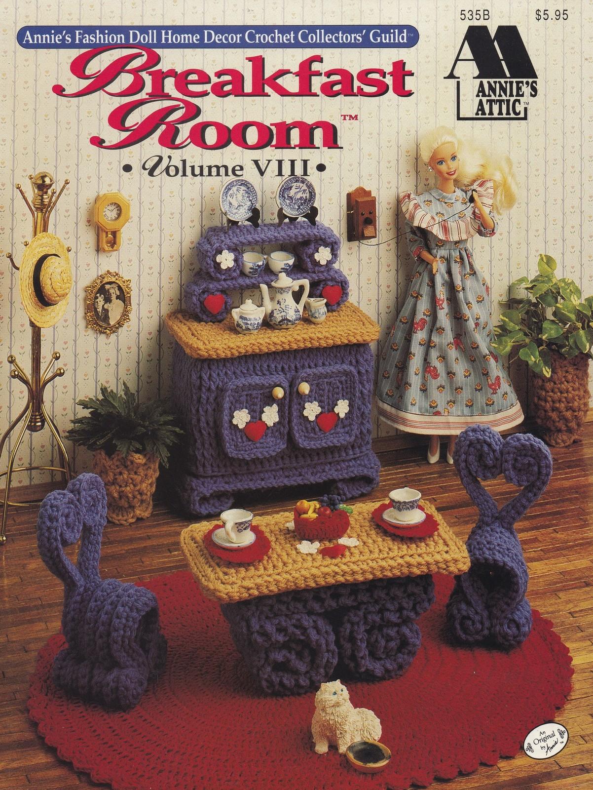 Breakfast Room Vol VIII, Annie's Fashion Doll Furniture Crochet Pattern 535B