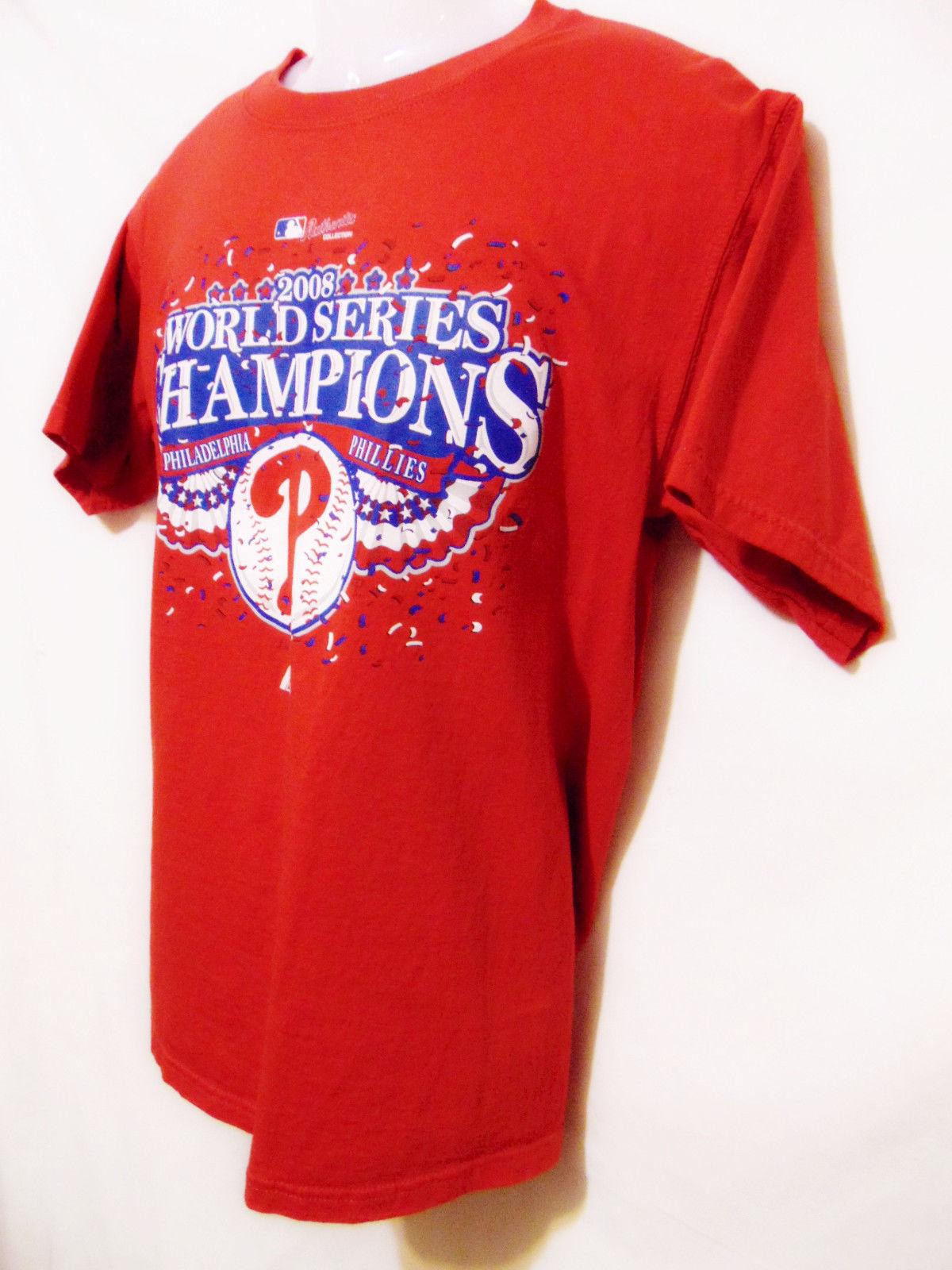 659d5d24 MAJESTIC Philadelphia Phillies 2008 World Series MLB Champions T-Shirt  M/Medium