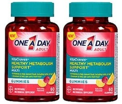 ONE A DAY VitaCraves Adult Healthy Metabolism Support Gummies 2 Bottle Pack - $26.68