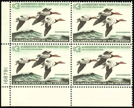 RW32, Mint NH Duck Plate Block- SUPERB QUALITY Cat $500.00 - Stuart Katz - $325.00