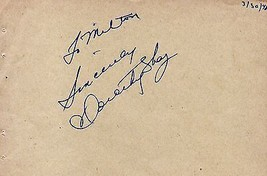 DOROTHY SHAY Autograph, signed on autograph album page - $11.87