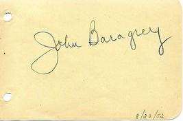JOHN BARAGREY Autograph Signed on album page - $22.76