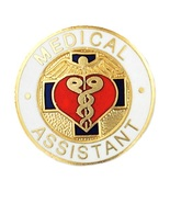 Medical Assistant Lapel Pin MA Nursing Medical ... - $12.97