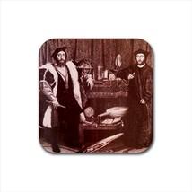 Ambassadors Hans Holbein Non-Slip Drink/Beer Coaster Set - Painting (Art) - $6.74
