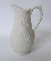 Portmeirion White Parian ware Pitcher Vase Small Nightingale Bird Flora... - $29.69