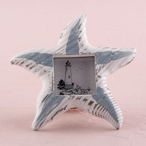 1 Starfish Photo Picture Frame Beach Wooden Wedding Favor Place Card Hol... - $5.62