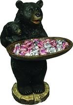 Candy Tray Holder New Black Bear Design Bird Ba... - $83.75