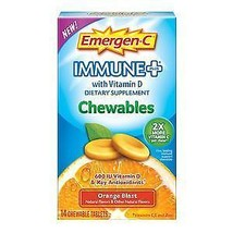 Emergen-C Immune with Vitamin D 42 Chewables Or... - $14.41