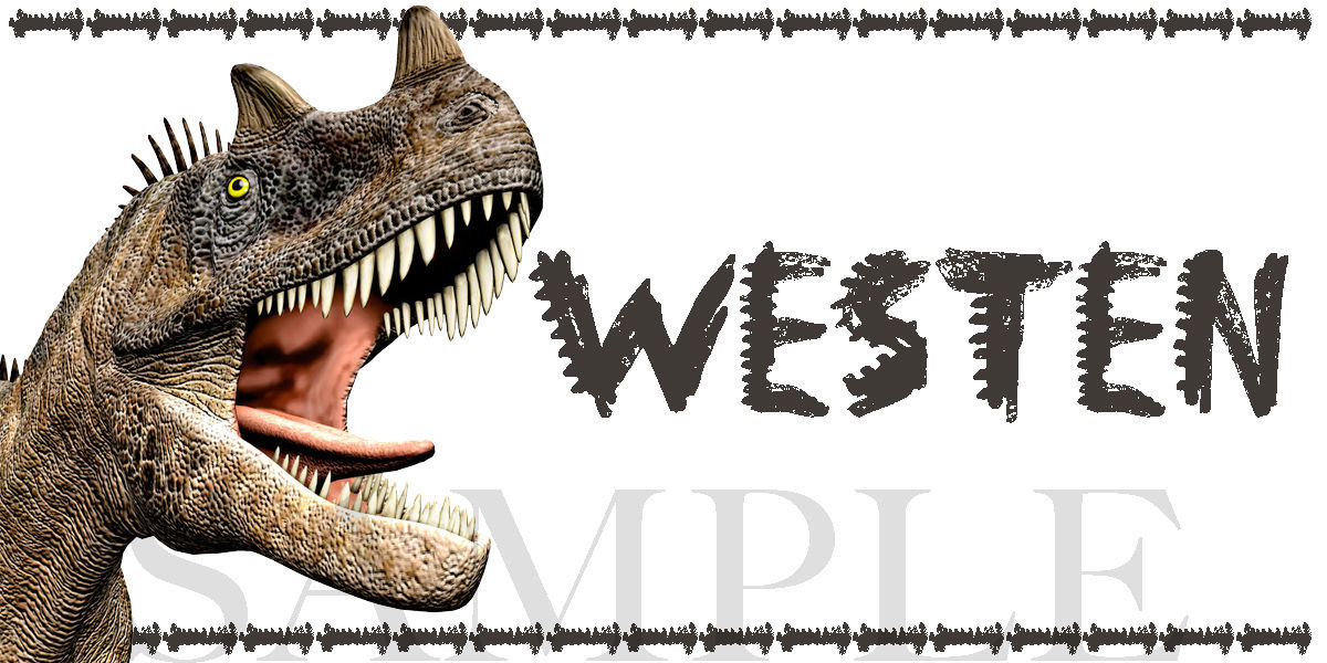 Dinosaur Sticker, Ceratosaurus Dinosaur, Personalized and Waterproof