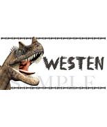 Dinosaur Sticker, Ceratosaurus Dinosaur, Personalized and Waterproof  - $1.42