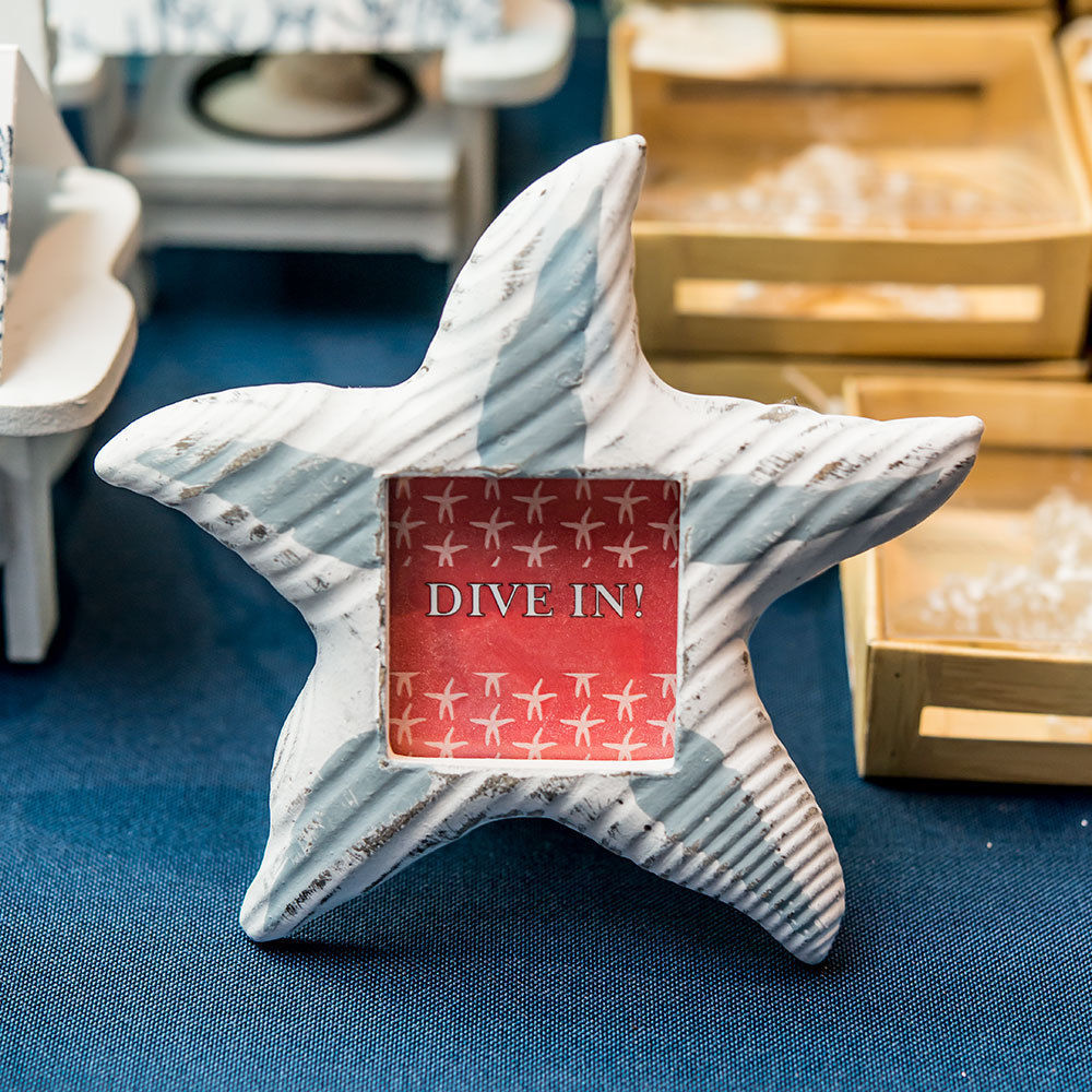 1 Starfish Photo Picture Frame Beach Wooden Wedding Favor Place Card Holder Gift
