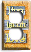 Live Laugh Love Rustic Wooden Design Duplex Outlet Wall Plate Cover Room Decor - $8.09