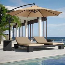 Brand New 2016 Patio Umbrella Beige Hanging Outdoor Waterproof Relaxing ... - $85.91