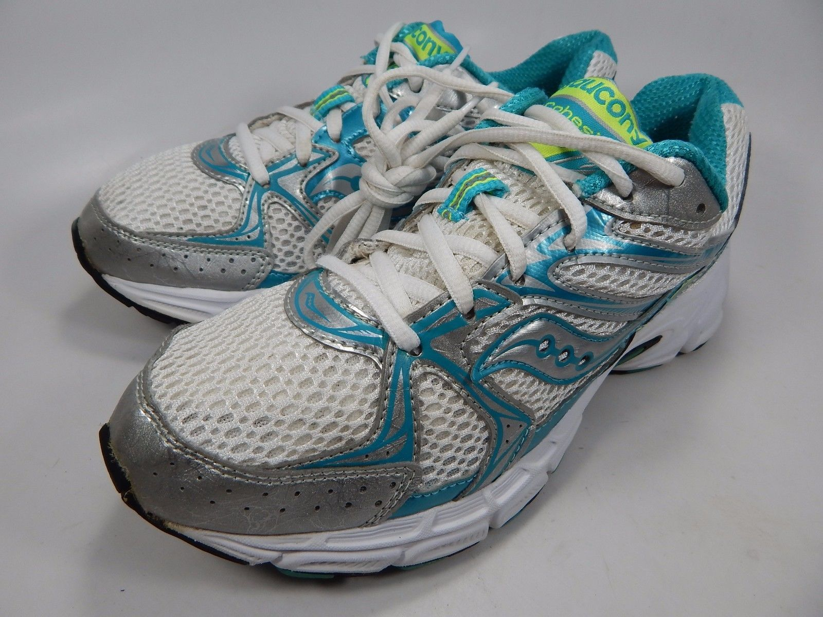 Saucony Cohesion 6 Women's Running Shoes Size US 8.5 M (B) EU 40 White 15156-2