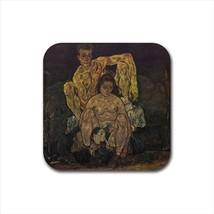 Family Egon Schiele Non-Slip Drink/Beer Coaster Set - Painting (Art) - $6.74