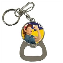 Feminist You Can Do It Bottle Opener Keychain - $6.74