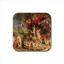Feast of Venus Vennsfest Peter Paul Rubens Non-Slip Drink/Beer Coaster Set - $6.74