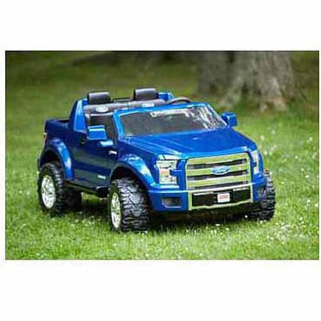 car ford f 150 fisher price power wheels 12 volt battery powered ride on blue ride on toys. Black Bedroom Furniture Sets. Home Design Ideas