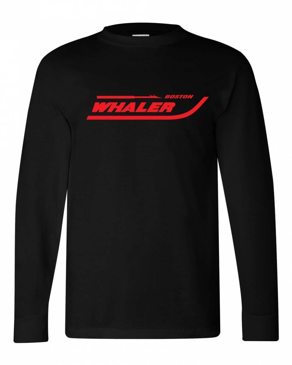 Boston Whaler T-shirt Long Sleeve 100% cotton graphic tee boating fishing tee