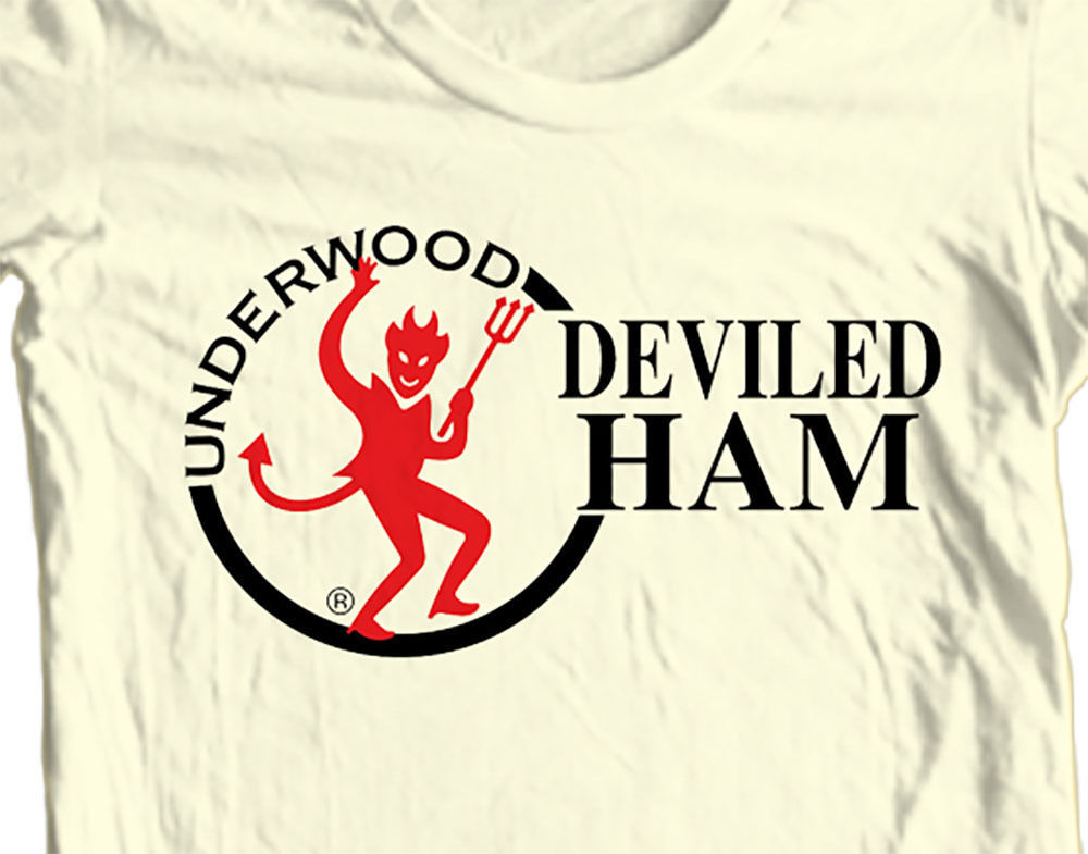 Underwood Deviled Ham T-shirt funny Family Guy Spam retro 80s 100% cotton tee