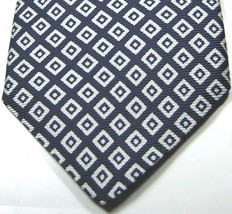 BROOKS BROTHERS Makers Blue with White Diamonds Tie 100% Silk italy - $29.99