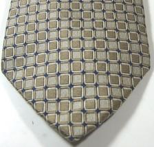 "Brooks Brothers ""346"" Dark Beige Blue Geometric Pure 100% Silk Tie Rare - $29.99"