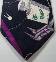"Nicole Miller 1992  Teeth ""Stan's Toothpaste""""Dr. Floss"" Euc  100% Silk Rare Vtg - $69.99"