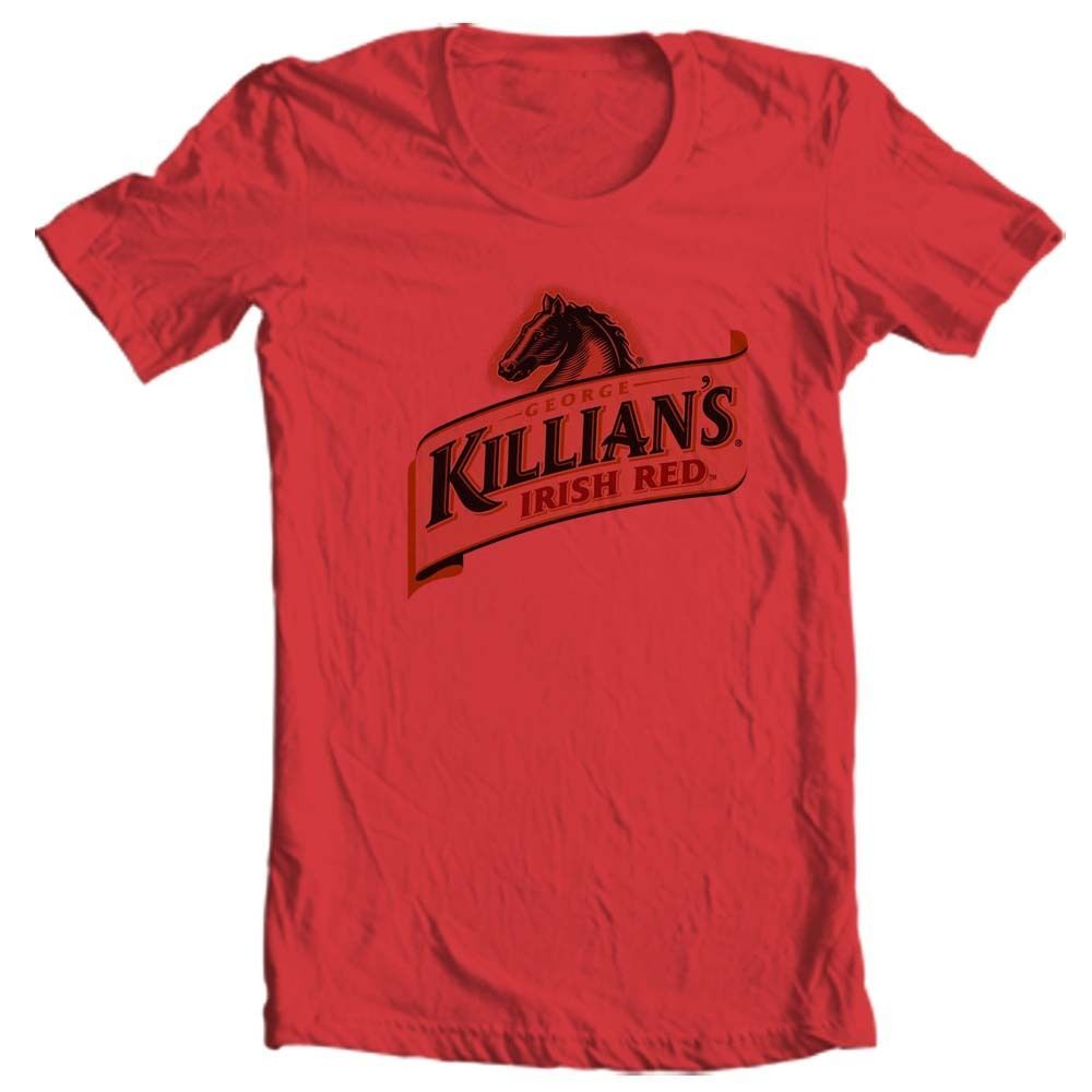 Killians Irish Red T-shirt beer Ireland Guiness 100% cotton graphic printed tee
