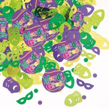 Mardi Gras! Party Confetti .5 oz package Paper and Foil - $2.84