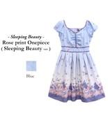 Authentic Disney Sleeping Beauty Rose Print Blue Dress by Secret Honey J... - $219.00