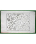1859 ANTIQUE MAP - Italy Environs of Alessandri... - $27.72