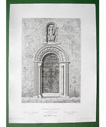 ARCHITECTURE PRINT 1850 - England Church of St.... - $17.82