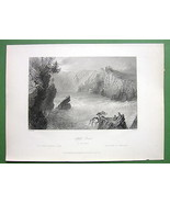 CANADA Split Rock on St. John River - 1841 Anti... - $19.75