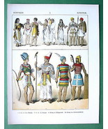EGYPT Costume of Soldiers Priest King - COLOR L... - $27.72