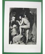 NUDE Oedipus Facing  Sphinx Skulls - SUPERB Ant... - $27.72