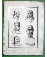 PORTRAITS of Sophocles Euripides Aeschylus Peri... - $27.72