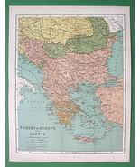 TURKEY in Europe Greece Bulgaria Albania Transy... - $27.72