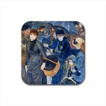 Les Parapluies The Umbrellas Auguste Renoir Non-Slip Drink/Beer Coaster Set - $6.74
