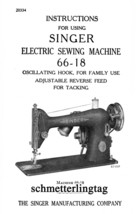 c1945 Singer Sewing Machine Manual 66-18 Book Sewing Attachments Use Guide - $12.99