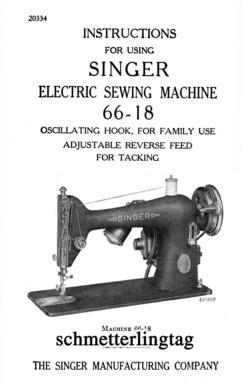 c1945 Singer Sewing Machine Manual 66-18 Book Sewing Attachments Use Guide