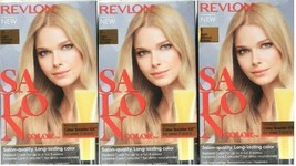 (3) Revlon SALON COLOR 9 Light Natural Blonde Color Booster Permanent Ha... - $34.09